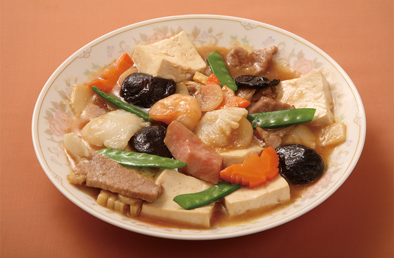 什錦豆腐|豆腐と五目野菜の醤油煮込み