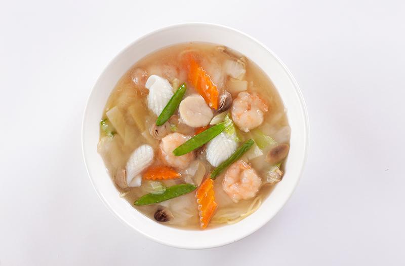 海鮮湯麺|海鮮スープそば(塩味)