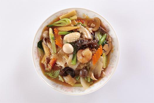 五目スープそば(醤油味)